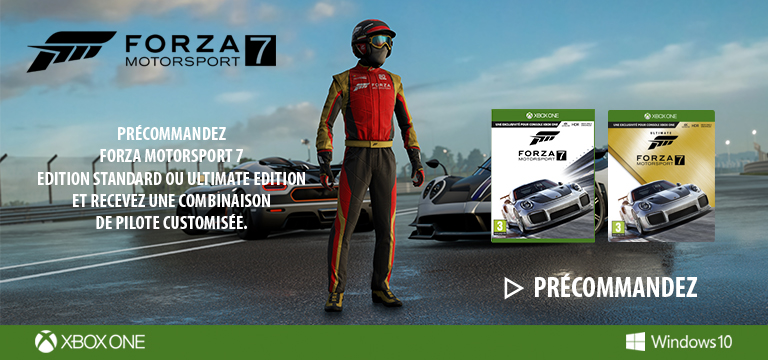 forza motorsport 7 xbox one pas cher prix auchan. Black Bedroom Furniture Sets. Home Design Ideas