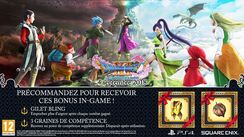 Dragon Quest XI PS4 | Bonus de précommande
