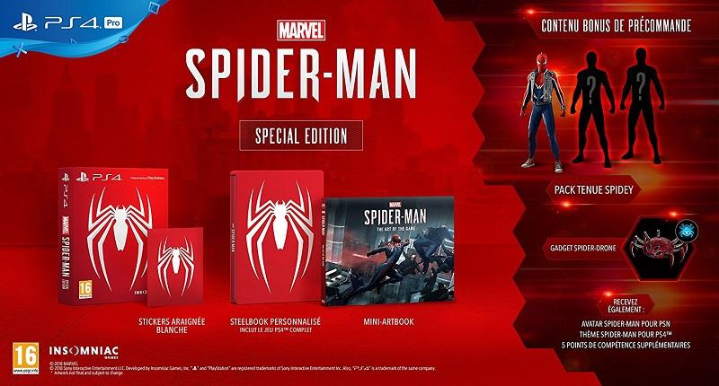 Marvel's Spider Man Edition Special | Bonus de précommande