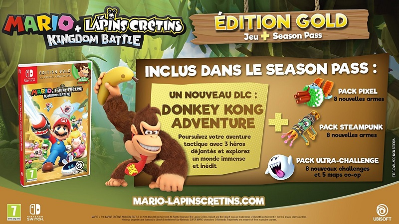 Mario Lapin Crétion Kingdom Battle édition gold | Jeu Nintendo Switch