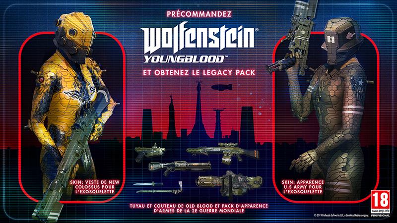 Wolfenstein II Youngblood bonus précommande | Auchan