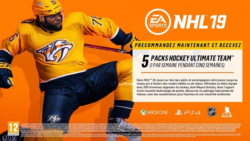 NHL 19 bonus précommande | Auchan