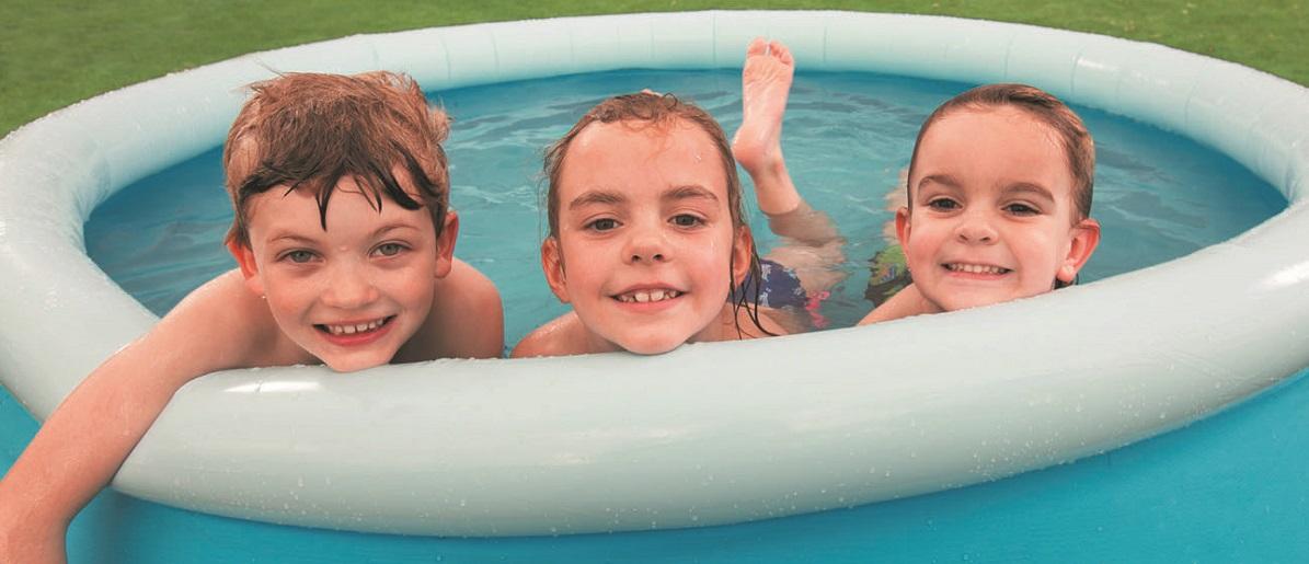 Fast set pool bestway bandeau