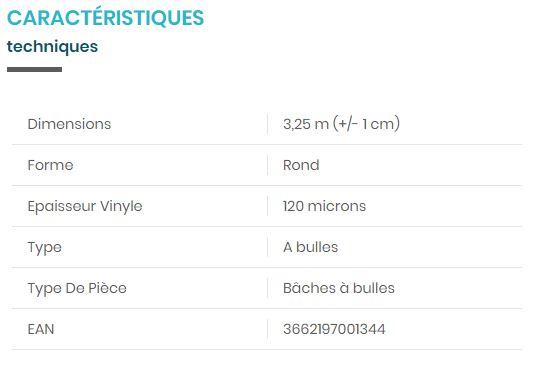 PISCINE / BACHE 00134