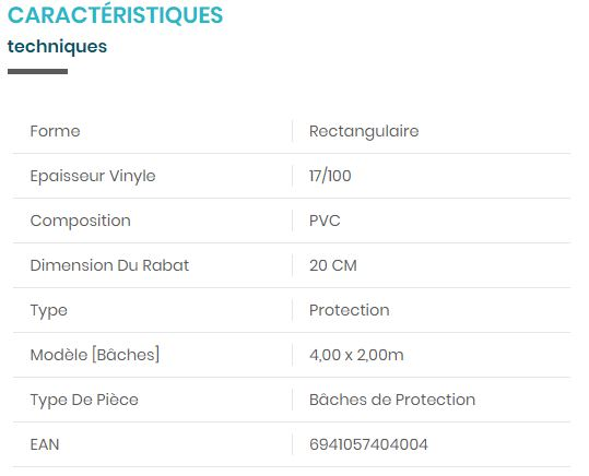 PISCINE / BACHE 28037