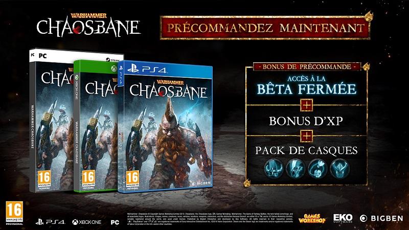 Warhammer Chaosbane bonus de précommande | Auchan