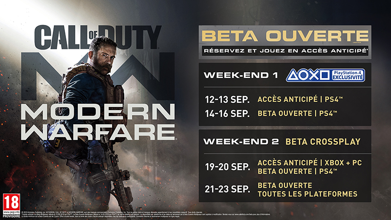 Beta Call of Duty Modern Warfare | Auchan