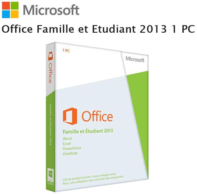 Logiciel office 2013 famille etudiant microsoft pas cher prix auchan - Pack office etudiant 2013 ...