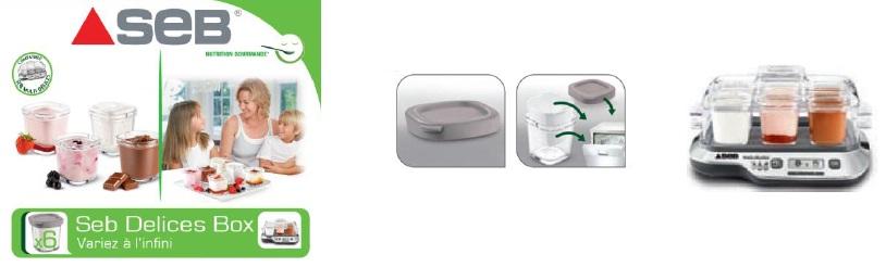 Accessoires Electromenager Xf100001 Lot De 6 Pots Verre Avec