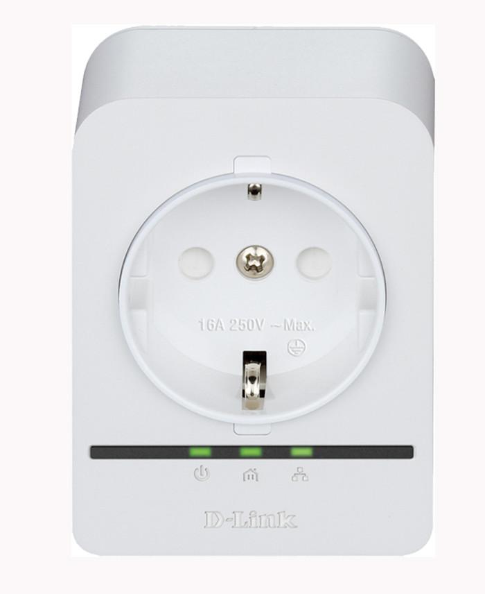 D-Link - Adaptateur CPL DHP-P308AV - 500 Mpbs avec prise intégrée