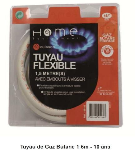 accessoires electromenager 90113 tuyau de gaz butane dpdo pas cher prix auchan. Black Bedroom Furniture Sets. Home Design Ideas