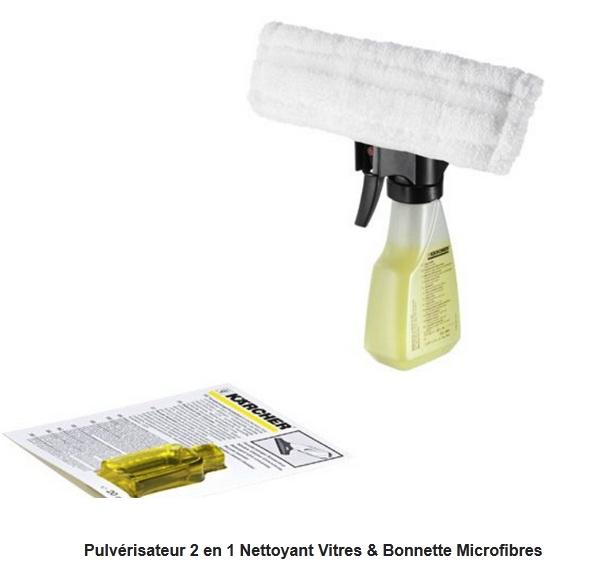 accessoires entretien 26331140 pulv risateur 2 en 1 nettoyant vitres bonnette microfibres. Black Bedroom Furniture Sets. Home Design Ideas