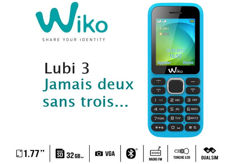 wiko telephone non smartphone lubi  turquoise p c