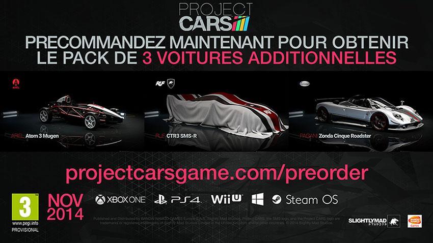 Project CARS Bonus précommande