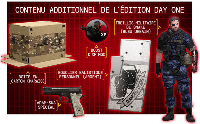 Contenu MGS V Edition Day One