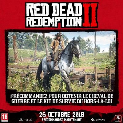 Red Dead Redemption 2 Bonus précommande | Auchan