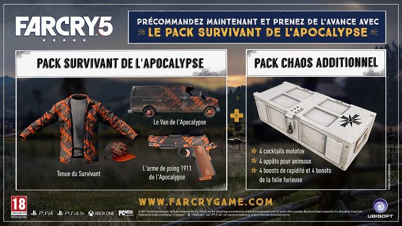 Bonus précommande | Jeux Far Cry 5